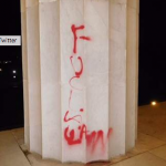 Expletive Graffiti on the Lincoln Memorial
