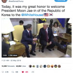 SK President Moon Visits Trump at the White House to Discuss NK-SK Summit