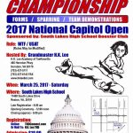 National TaeKwonDo Championship To Open March 25, 2017