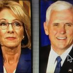 Pence Breaks the tie in favor of DeVos's nomination