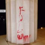 Expletive Graffiti on the Lincoln Memorial