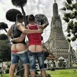 Jail for the Two Mooning Couple at a Thai Temple