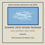 Summer Internship Application at the White House Due March 15, 2018