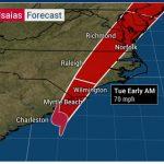 Hurricane Category 1 Isaias Hits the Carolinas